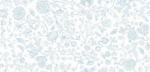 Table Cloth Spring to Life White Blue 150x250cm