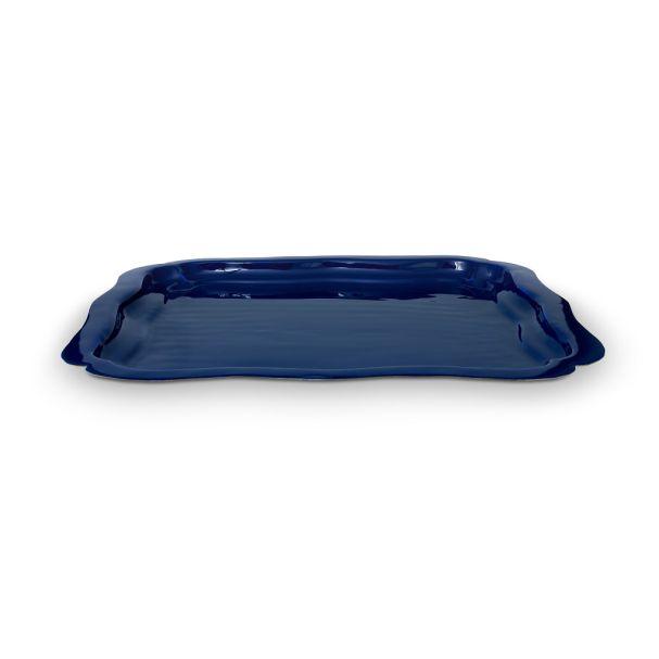 Tray Square Enamelled Blue 40x40cm