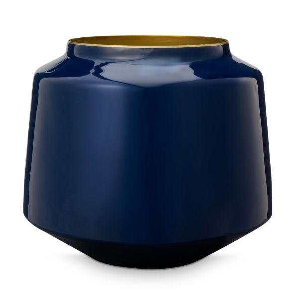 Vase Metal Blue 22cm