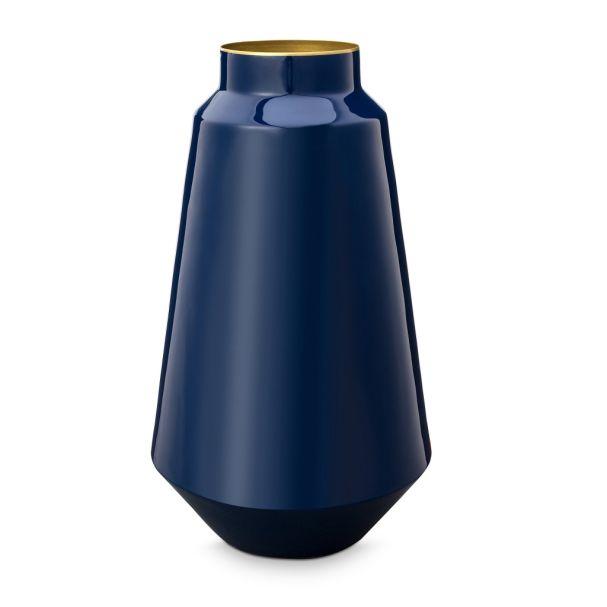 Vase Metal Blue 36cm