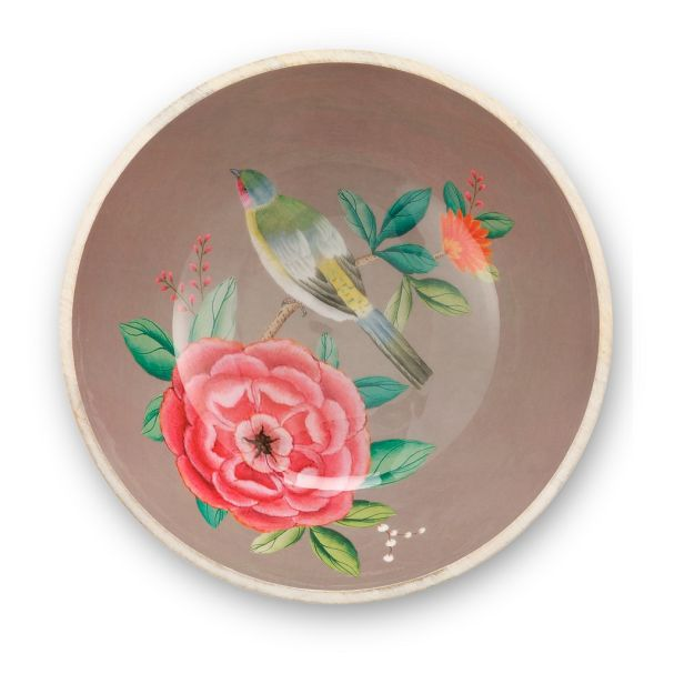 Pip Studio Khaki 32cm Enamelled Wooden Bowl