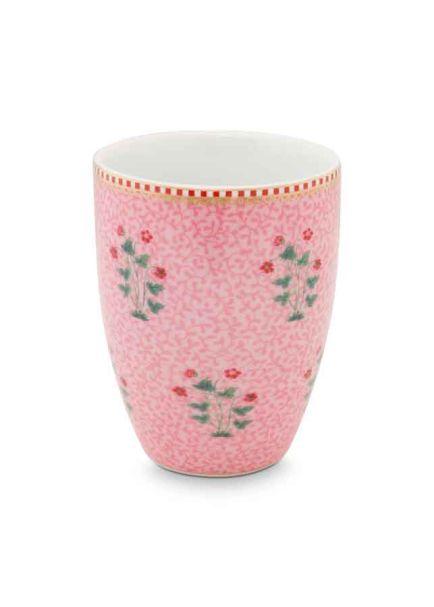Drinking Mug Floral Good Morning Pink