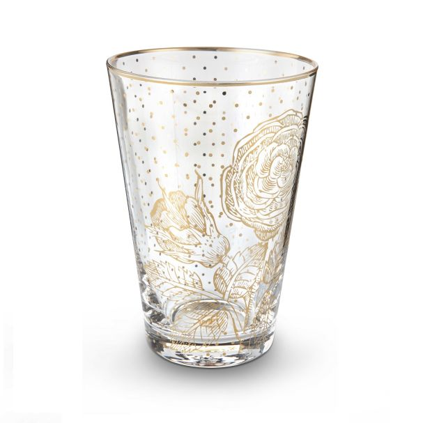 Pip Studio Longdrink Glass Royal Golden Flower