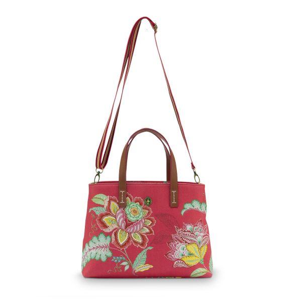 Pip Studio Small Jambo Flower Red Shopper