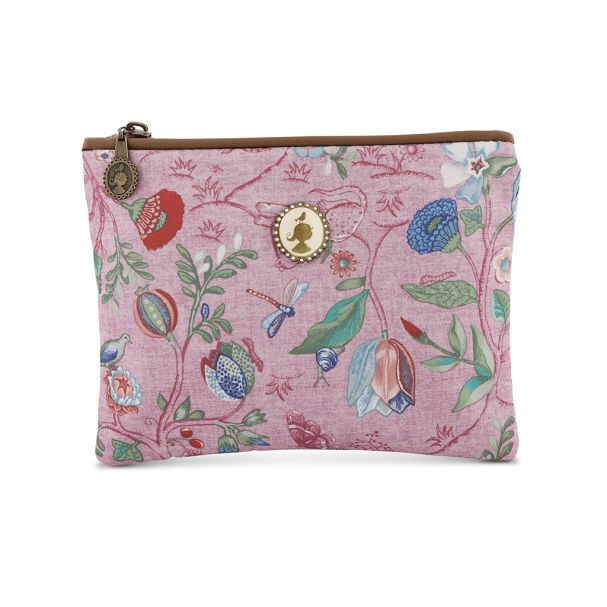Cosmetic Flat Pouch Small Spring to Life Pink