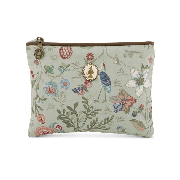 Cosmetic Flat Pouch Small Spring to Life Celadon