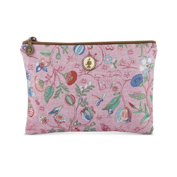 Cosmetic Flat Pouch Medium Spring to Life Pink