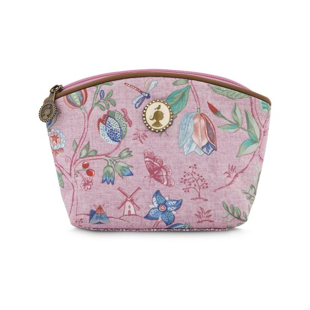 Cosmetic Bag Small Spring to Life Pink