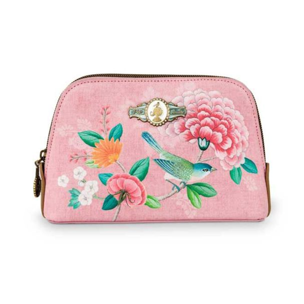 Good Morning Cosmetic Bag Triangle Small Floral Pink
