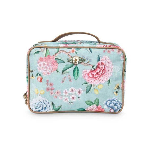 Good Morning Beauty Case Square Large Floral Blue