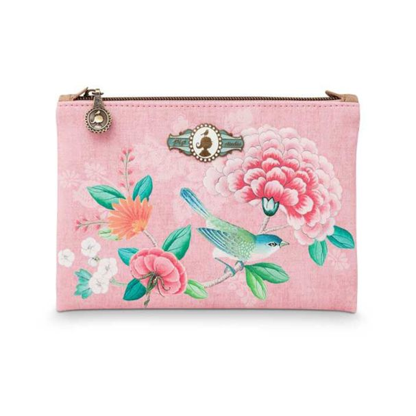 Good Morning Cosmetic Flat Pouch Small Floral Pink