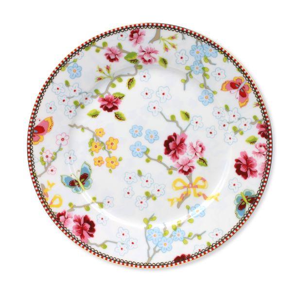 PiP Studio Plate Chinese rose White - 21 cm