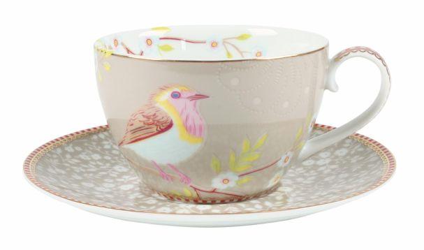 PiP Studio Cappucino Cup & Saucer Early Bird Khaki
