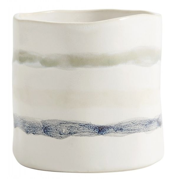 Nordal Small Art Pot White