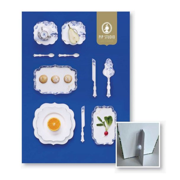 Royal White Top Card with Stand Collection  A4 Multi