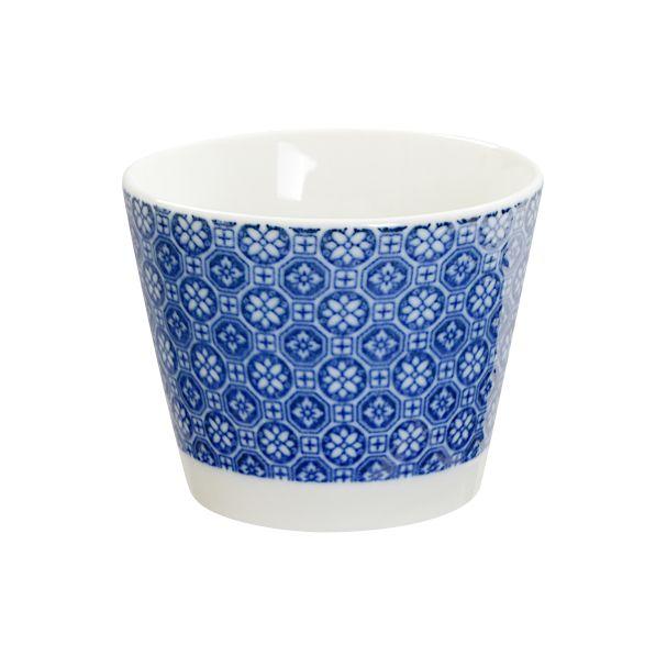 Porcelain 8.5x6.8cm Cup Flower Nippon Blue