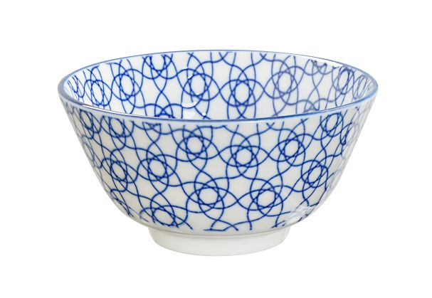 JP Rice Bowl 12x6.4cm Nippon Blue Stripe