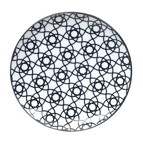 Tokyo Design Nippon Black Plate 16cm Stripe