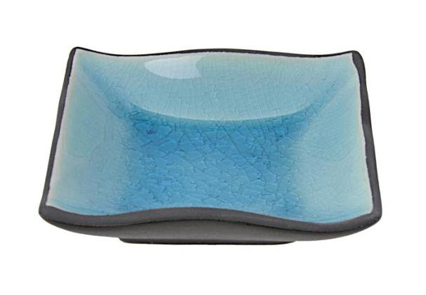 Tokyo Design Glassy Turquoise Blue Dish 9x9cm