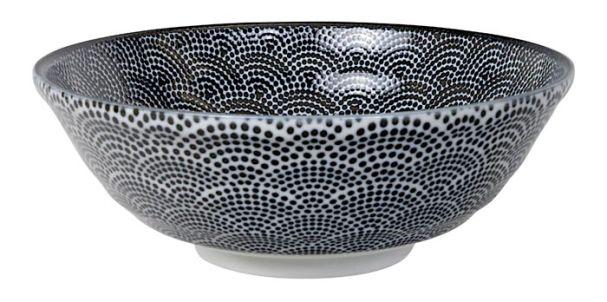 Tokyo Design Nippon Black Soba Bowl 21x7.8cm Dot