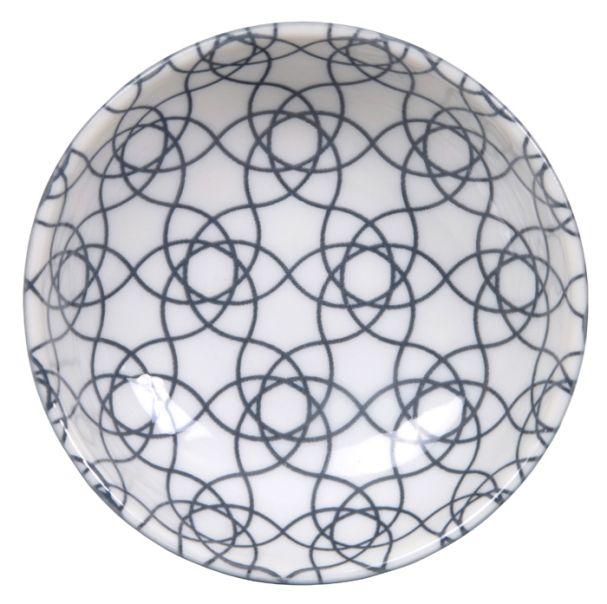Tokyo Design Nippon Grey Dish 9.5x3cm Stripe