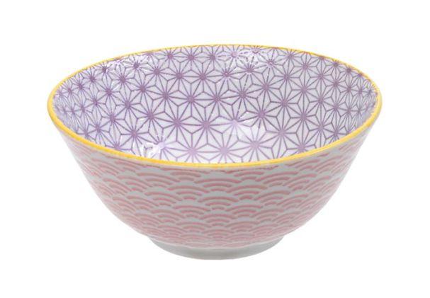 Tokyo Design Star Wave Tayo Bowl 15x6.5cm Pink