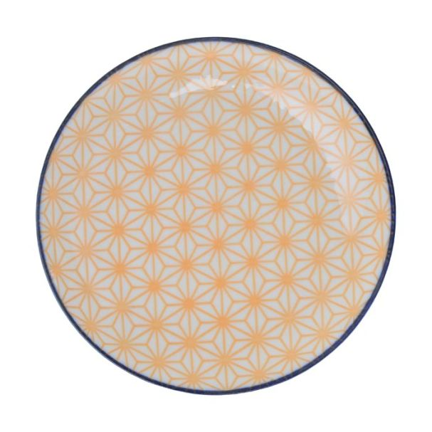 Tokyo Design Star Wave Plate 16x2.1cm Yellow