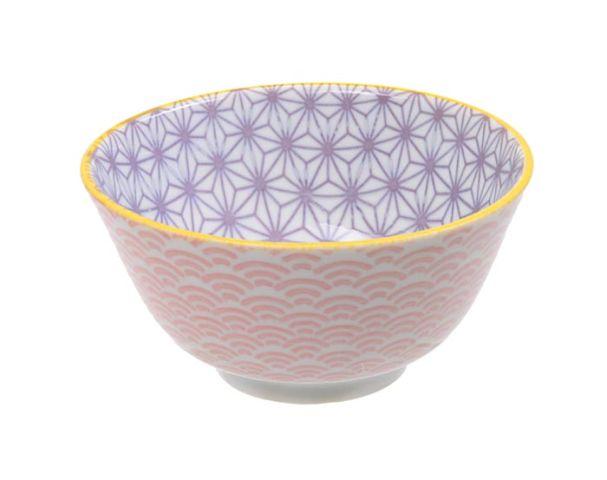 Tokyo Design Star Wave Rice Bowl 12x6cm Purple/Pink