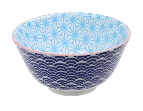 Tokyo Design Star Wave Rice Bowl 12x6cmLight Blue/Blue