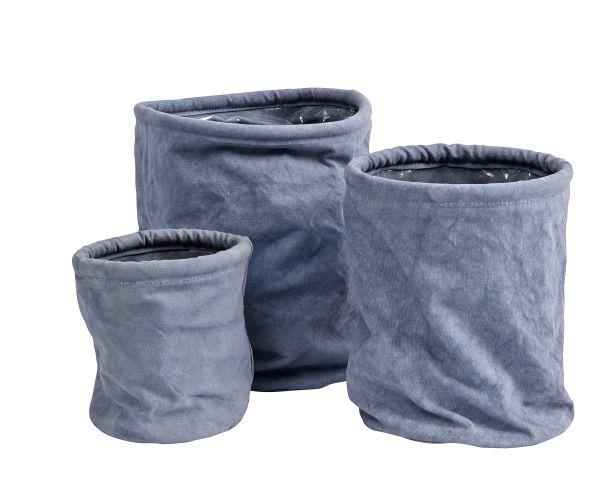 Nordal Canvas Pots, Ash Purple Set Of Three