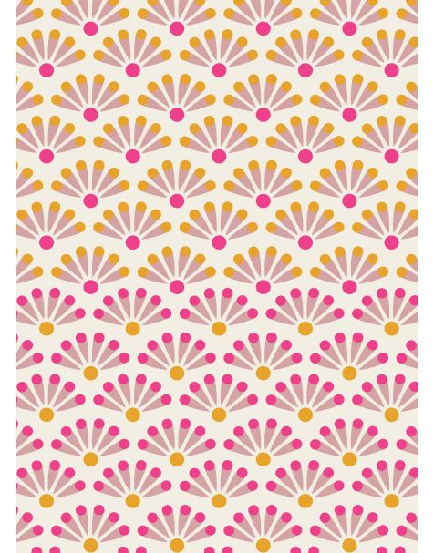 Blooming Tiles Star White Guest Towel