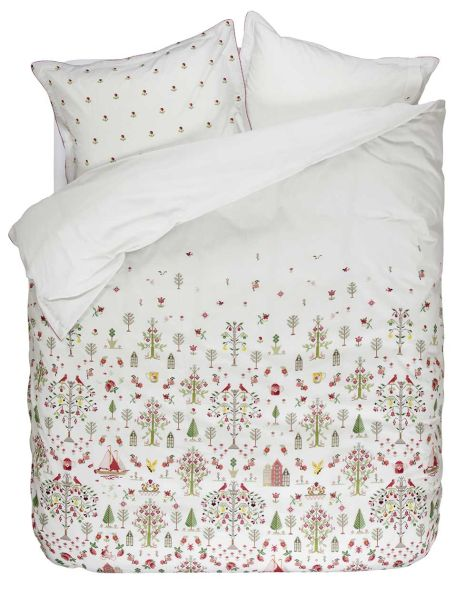 Pip Studio, Family Tree Duvet Cover, Pink 100% cotton percale Double and King Size Only.  Pillowcases Included (2 matching pillowcases for Double and King)