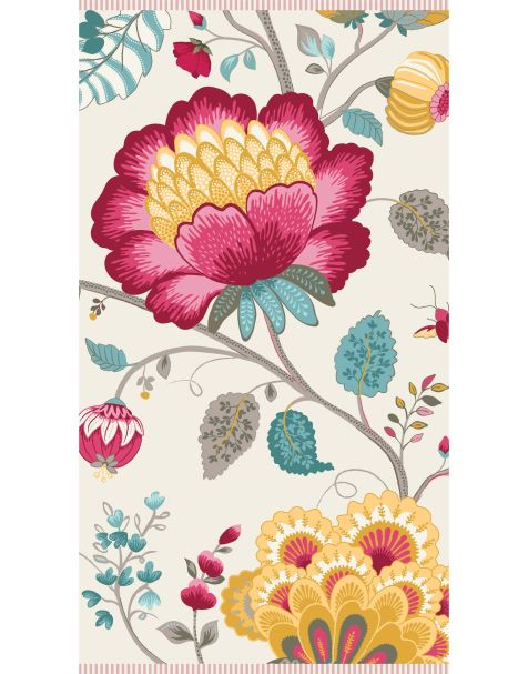 Floral Fantasy White Hand Towel