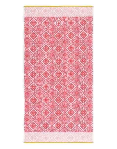 Jacquard Check Bath Towel Dark pink Pip Studio