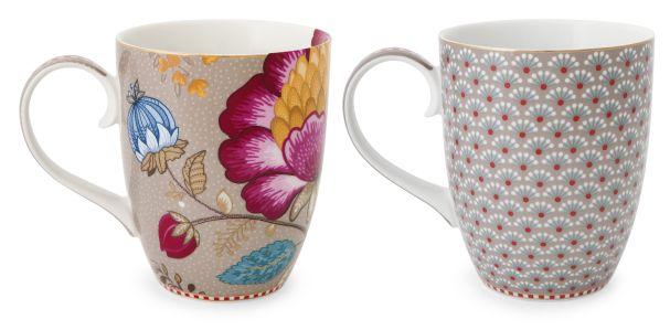 Set/2 Mug Large Khaki