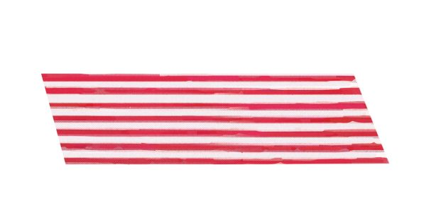 Promotional Ribbon on Roll  50 mtr Red/White
