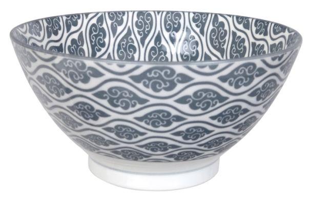 Tokyo Design Nippon Grey Sori Bowl 18x9cm Grey Cloud/Grey Rim