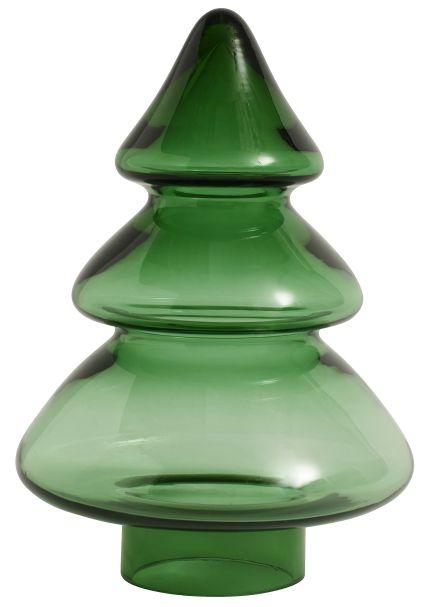 Nordal Green Large Glass Christmas Tree