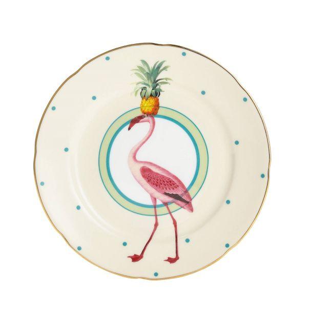 Yvonne Ellen Cake Plate Flamingo