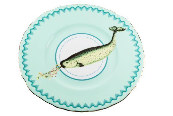 Yvonne Ellen Narwhal cake plate