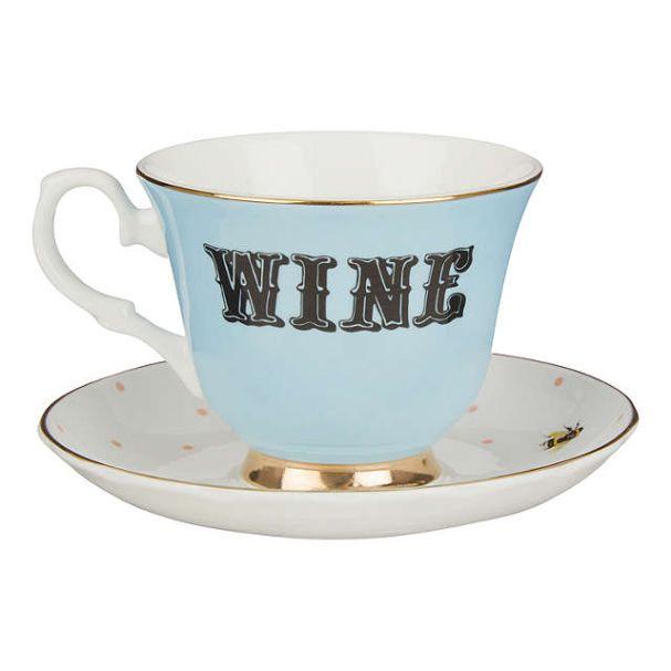 68281029 Yvonne Ellen Wine teacup & saucer