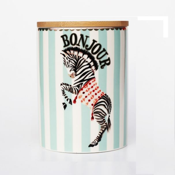 Yvonne Ellen Storage Jar Zebra