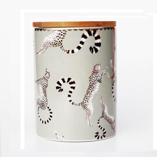 PRE ORDER Yvonne Ellen Storage Jar Cheetah