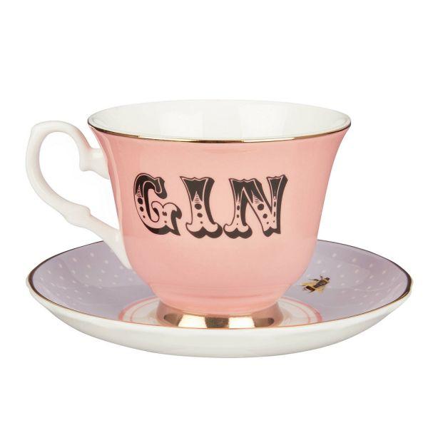 68281025 Yvonne Ellen Gin teacup & saucer