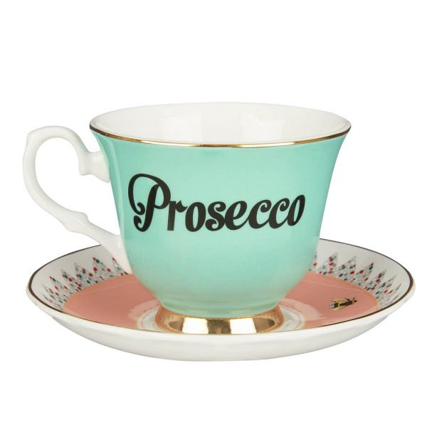 68281027 Yvonne Ellen Prosecco Teacup and Saucer