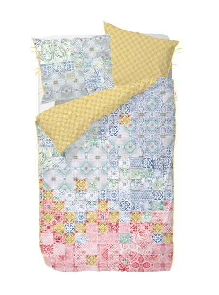 UK - Mixed Up Tiles Single Duvet Cover