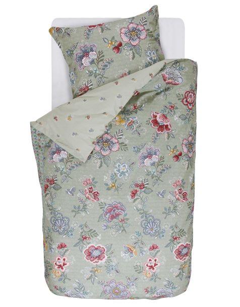 Berry bird Duvet cover Green 1p set 137x200+50x75