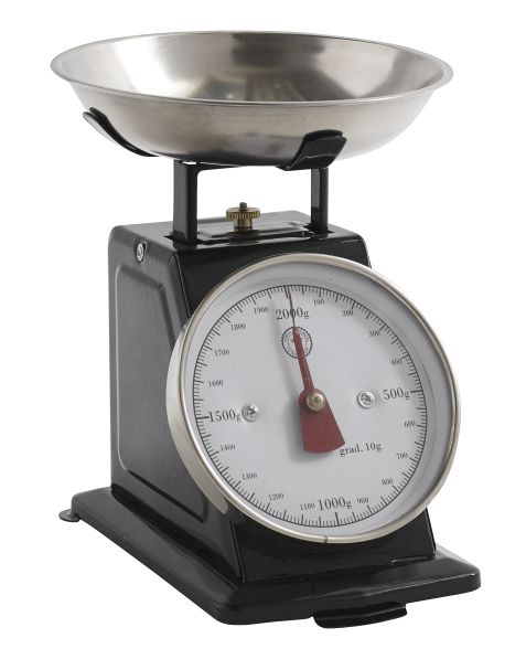 Small Black Kitchen Scale