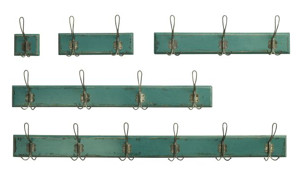 Nordal COUNTRYSIDE Coat rack, 3 hooks, petrol