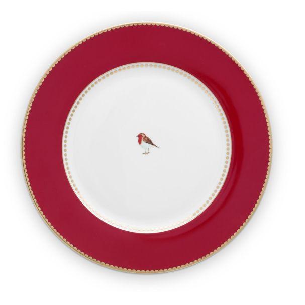 Love Birds Red 26.5cm Plate
